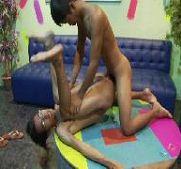Lesbian group squirt